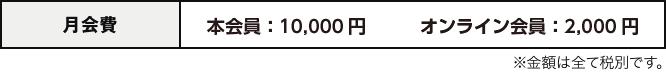 月会費 15,000円